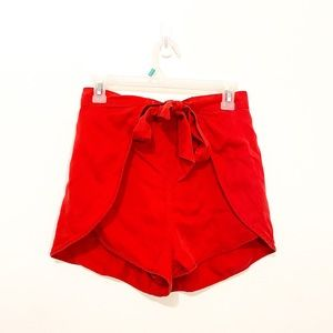 Urban Outfitters Red Belted Tie Shorts Size Small